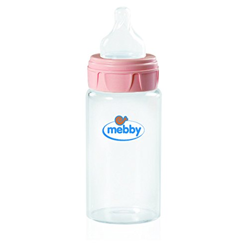 Biberon Sticla Mebby 270ml Silicon Pink